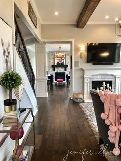 Pre-stained Hickory Dark Hardwood Floors – Jennifer Allwood Home - mechanical. Living Room Hardwood Floors, Hardwood Floors Dark, Living Room Reveal, Barn Living, Living Room Remodel, Dark Hardwood Floors Living Room, Hickory Flooring, Hearth Room, Apartment Decor