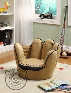 LITTLE CATCHERS MITT KIDS CHAIR sport theme / games chair armchair childrens playroom:Amazon:Kitchen & Home sports nursery decorations