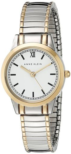 Anne Klein Women's AK/1371WTTT  Two-Tone Expansion Band Watch ** Check out the image by visiting the link.