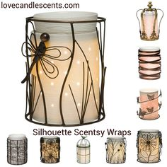 Silhouette Scentsy Warmer Wraps are available now at Love Candle Scents online store. http://scentsandoilsstore.weebly.com