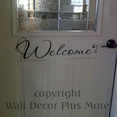 Entryway or Front Door Sticker Decal |This is the perfect size for a 32 to 36-Inch Door| Simply Affordable Wall Stickers by Wall Décor Plus More | Order Today