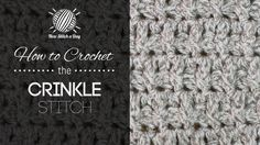 How to Crochet the Crinkle Stitch - written and video