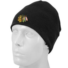 NHL Chicago Blackhawks Basic Cuffless Knit Beanie af1fdb132