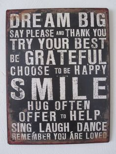 Maar droom wel groots! En wees een beetje dankbaar voor deze rotdag