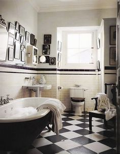 Live Creating Yourself.: Belle: Black and White Bathroom Progress