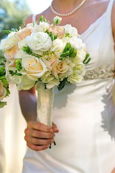 Pink and White Bride's Bouquet - The Flower Bucket