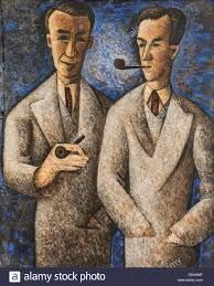 Marcel Gromaire (1892-1971) French painter. Work inspired by social topics, associated with social realism. Art collector Dr. Girardin, established his career as an artist when he bought the whole of Gromaire's work. Dr Girardin died in 1953, the museum in Paris received 78 paintings, and the collection of watercolors.