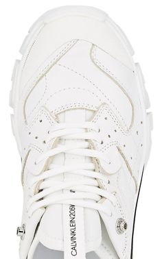 214949994ee2 CALVIN KLEIN 205W39NYC Women s Rubber-Strap Leather Sneakers   Barneys New  York Leder Sneakers,