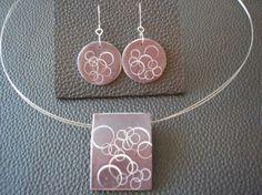 pendientes y collar realizados en arcilla polimerica conjunto de pendientes y collar a juego arcilla polimerica modelado