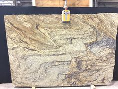 #Hurricane is a maculate piece of #granite. This slab base colors are #cream, #gold and #white, it also has #brown and #rust throughout the slab. Come in today and see our selection on #Granite, #Marble, #Quartz and #Quartzite.
