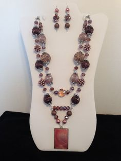 SImple Colors in Pale Pink and Purple by JewelryWorksbyCarol, $58.00
