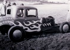 An early drag coupe at Magnolia Drag Strip.