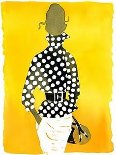 a little yellow and polkadots