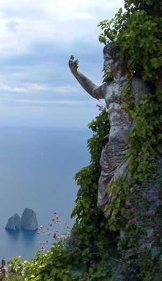 Mount Solaro.Anacapri, Italy  wish i knew more a about this ancient god