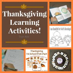 8 Thanksgiving Learning Activities for Kids including free coloring pages, memory verse activities, gratitude games, and more!
