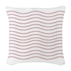 Blush Pink Waves Woven Throw Pillow. More cosy, comfy things - on my board: https://nl.pinterest.com/lmn275/cosy-comfy/