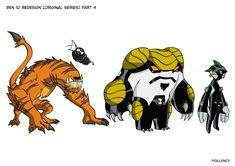 Ben 10 (Original) redesign part 4 by Fiqllency on DeviantArt Character Concept, Concept Art, Ben 10 Comics, Marvel Comics, Ben 10 Ultimate Alien, Ben 10 Alien Force, Ben 10 Omniverse, Alien Design, Fanart