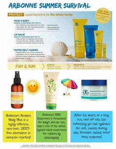 Summer survival with Arbonne