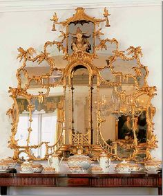 The original Badminton Chinese bedroom mirror – bought by Doris Duke in 1965 and sold at Christie's after her passing.
