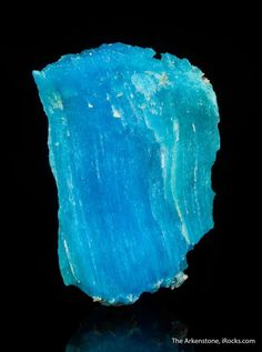 Krohnkite, Chuquicamata Mine, Antofagasta, Chile, Small Cabinet, 6.2 x 4.1 x 1.9 cm, From the type locality of Chuquicamata, krohnkite is an uncommon hydrated sodium, copper sulfate, and good crystals ONLY came from the type locality of Chuquicamata, Chile., For sale from The Arkenstone, www.iRocks.com. For more details on this piece and others, visit http://www.irocks.com/minerals/specimen/45199