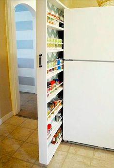 Une zone morte à côté du frigo? Pensez au tiroir à épices!