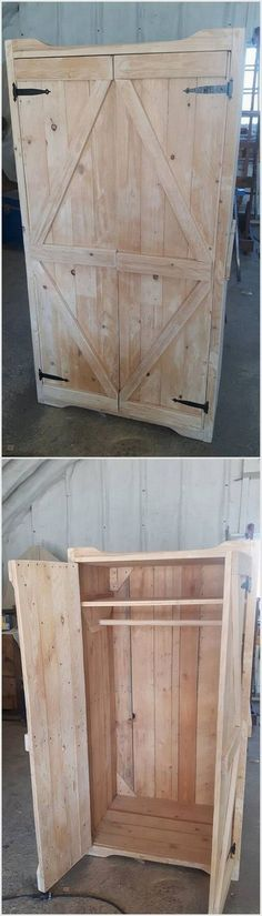 The time has passed away when the people used to add their living room with the wardrobe cupboards that are made from the plastic. Now the trend of adding the wood pallet cupboards in the living room is the best option. It keeps the clothing secure and protective and add the whole living room with fantastic impressions.