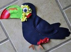 A toucan made out of paper plates! Check out more super simple decorating ideas on our Pinterest board, Standard PublishingVBS.