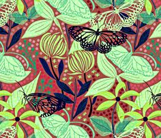 Butterfly fabric by susan_polston on Spoonflower - custom fabric