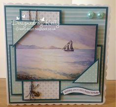 LOTV - Sea Breeze Art Pad with Petal Fresh Paper Pad and Birthday and Best Wishes Sentiment Set by Kelly Lloyd