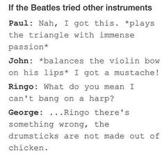 Read Other Instruments from the story Jokes and Memes Only A Beatles Fan Would Get Book 2 by adayinthelifeofjohn with 472 reads. Beatles Funny, The Beatles, Music Memes, Music Humor, What Do You Mean, All You Need Is Love, Great Bands, Cool Bands, The Quarrymen
