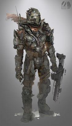 Rebel by Josh Norman on ArtStation. Armor Concept, Weapon Concept Art, Mode Cyberpunk, Cyberpunk Aesthetic, Chasseur De Primes, Arte Sci Fi, Futuristic Armour, Sci Fi Armor, Future Soldier