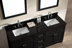Double sink counter tops elegant inspiration black bathroom and t vanity set with absolute granite s . double sink counter tops vanities with bathroom Bathroom Vanities For Sale, Black Vanity Bathroom, Gray Bathroom Decor, Bath Vanities, Bathroom Interior Design, Black Granite Countertops, Granite Vanity Tops, Vanity Countertop, Double Sink Vanity