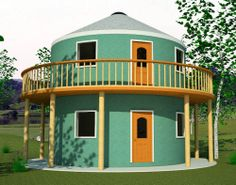 useful yurts round houses kit homes relocatables advanced saving staircases for small new home designs the Yurt Living, Outdoor Living, Round House Plans, Yurt Home, Silo House, Mud House, Earth Bag Homes, Recycled Brick, Dome House
