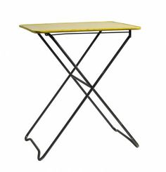 #Mesa plegable metal color #amarillo