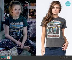 Maya's Bob Dylan tee on Girl Meets World.  Outfit Details: https://wornontv.net/59202/ #GirlMeetsWorld