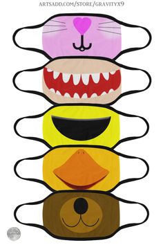 * Customize (color change) many of these Kawaii Style Mouth Mask designs by at ArtsAdd * Sewing Tutorials, Sewing Crafts, Sewing Projects, Sewing Patterns, Mouth Mask Fashion, Fashion Mask, Easy Face Masks, Diy Face Mask, Mouth Mask Design