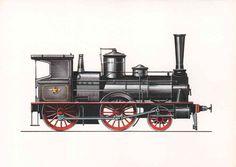 Reisezug-Lokomotive, Bauart Strousberg (1871) Dr. Strousberg hatte im Jahre 1869 die Lokomotivfabrik von Georg Egestorff in Linden bei Hannover angekauft, um hier erstmals einheitliche und dadurch wesentlich billigere Lokomotiven nach bestimmten Regelbauarten zu entwickeln und herzustellen