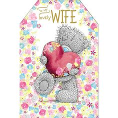 Lovely Wife Pop Up Me to You Bear Birthday Card £3.59