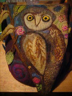 Owl...fabulous felt work by Karina