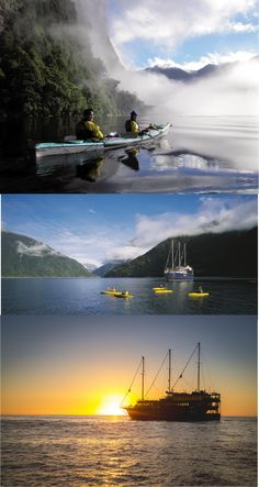 A Milford Sound cruise is an adventure you don't want to miss. Our Milford Sound tours will show you some of New Zealand's most beautiful scenery. Beautiful World, Beautiful Places, Kayak For Beginners, Kayaking Tips, Kayak Adventures, Milford Sound, Sport, Wonders Of The World, State Parks