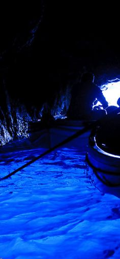 the Grotta Azzurra in the Island of Capri -  take a boat ride from the marina in Capri to experience this wonderful place.