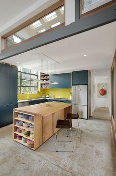 The original slab floor is evident in the kitchen.