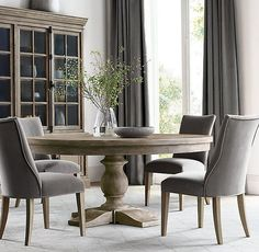 Esstisch C. Priory Round Dining Table C. Priory Round Dining Table Your One Y Farmhouse Dining Room Table, Dining Table Design, Modern Dining Table, Dining Room Furniture, Round Dining Room Tables, Dining Rooms, Circular Dining Table, Furniture Design, Dining Table Chairs