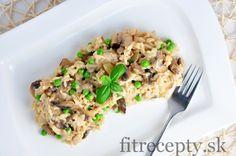 Houbovo-česneková rýže s hráškem