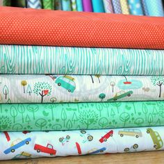 Raspberry Creek Fabrics - great Etsy shop if you are looking for some cute fabrics.  Nice fabric bundles and I like the blanket bundles too.