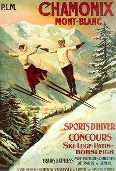 Classic Chamonix vintage poster
