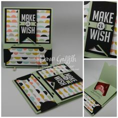 Envelope Punch Board gift card holder video - StampinUp! Demonstrator Stamping Videos Stamp Workshop Classes Scissor Charms Paper Crafts