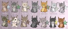 I said I wouldn't do another one of these in a long time, it has been a while but Ill say that I did it because I wanted to So here is another batch of warrior cat leaders! I chose Windclan to do n...