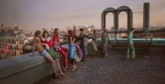 ROOFTOP MOMENT: Models pose in Gucci's spring-summer 2016 campaign