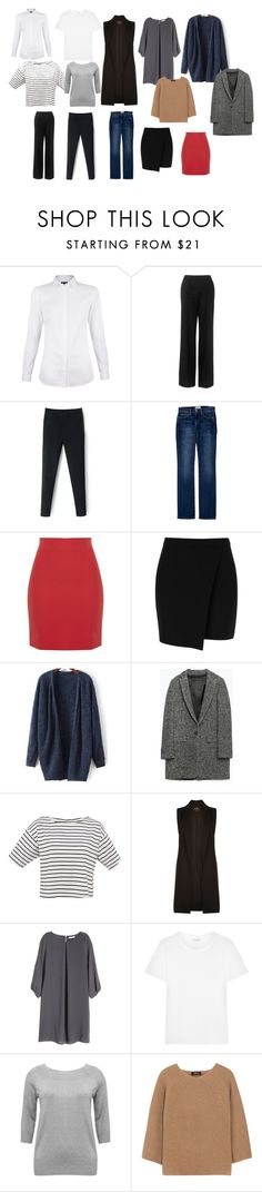 """""""Base"""" by irenerusse on Polyvore featuring мода, Whistles, Current/Elliott, Zara, River Island, H&M, Yves Saint Laurent, M&Co и A.P.C."""